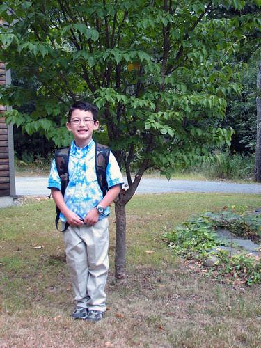 Adam's first day of first grade