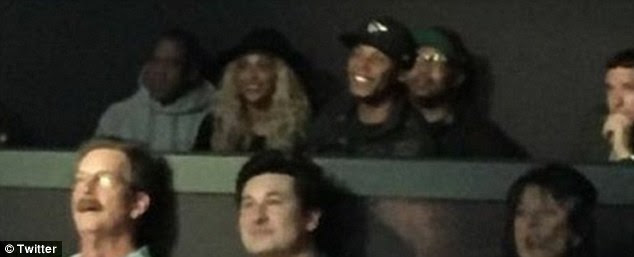 Who doesn't love Britney?The two appeared to be accompanied by a group of friends, who they chatted to between songs