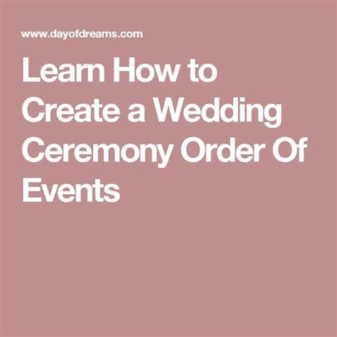 1000  ideas about Wedding Ceremony Order on Pinterest