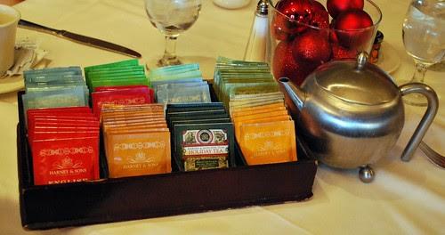 Nathaniel's Restaurant Tea Selection