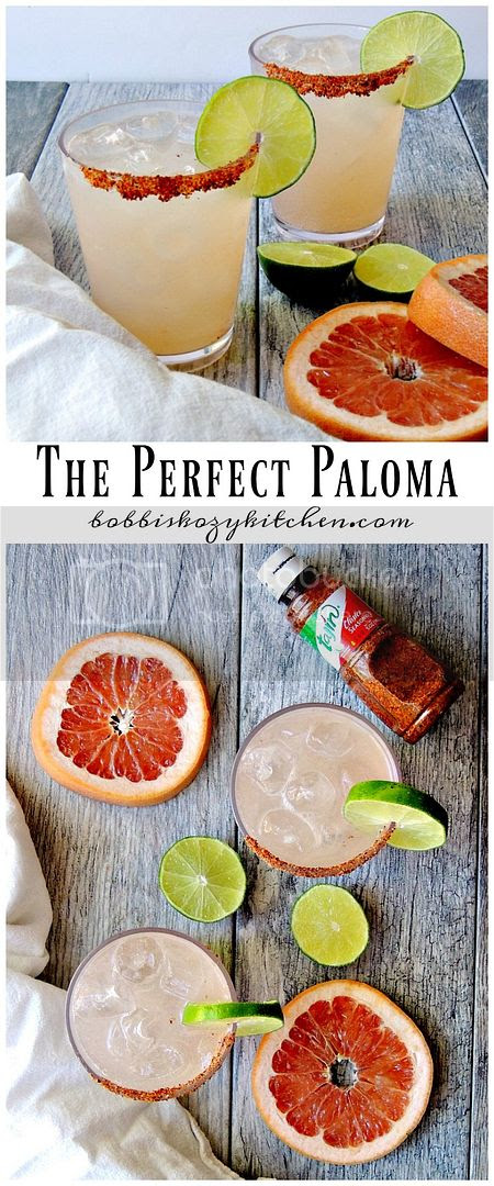 Refreshing, with a double citrus blast, these Palomas are the perfect summertime drink. From www.bobbiskozykitchen.com