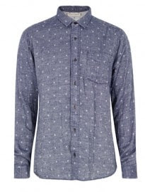 Uniforms For The Dedicated The Seducer Blue Snowflake Shirt