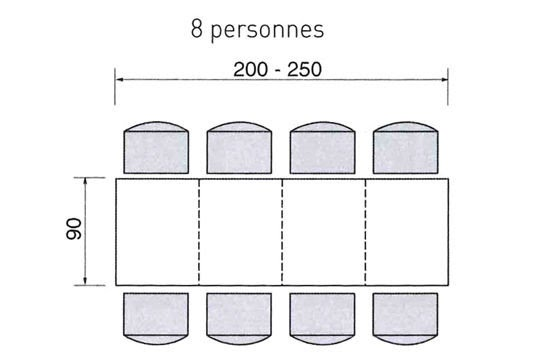 mobilier table dimensions table 6 personnes