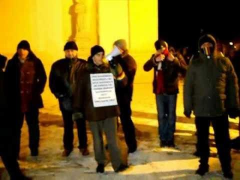 "[VIDEO] Protest la Suceava - luni 30 ianuarie. ""Nu vrem ACTA!"""