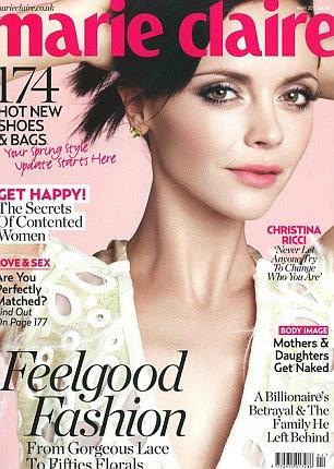 Christina Ricci adorna a capa da Marie Claire UK