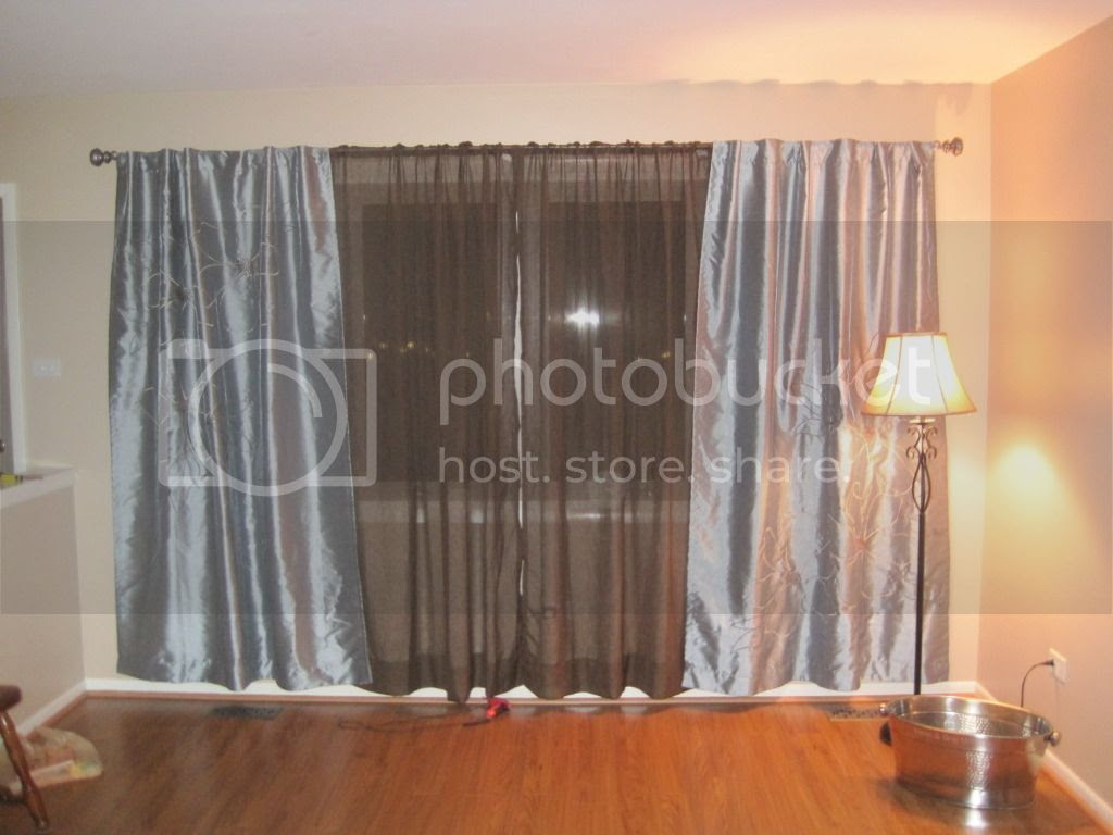 Blue and Brown Curtains from Bed Bath and Beyond