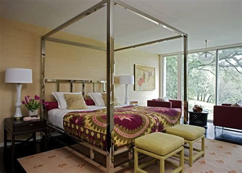 Chrome Canopy Bed   Contemporary   bedroom   Angie Hranowsky