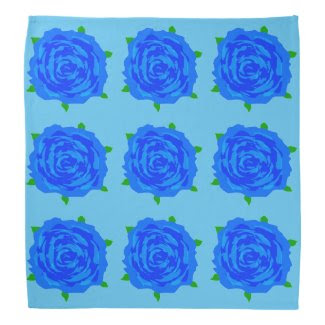 Blue Roses Breakout on Bandana