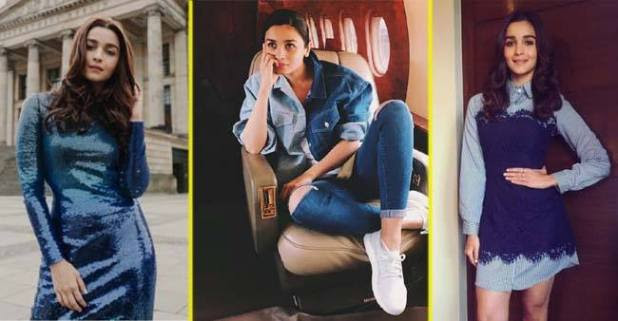 5 Times Alia Bhatt Gives Fashion Goal With Wearing Blue Colour
