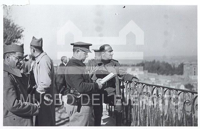 José Enrique Varela en el Paseo del Miradero en 1936 tras tomar Toledo © Museo del Ejército, Ministerio de Defensa