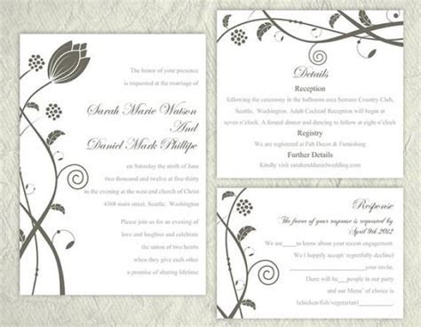 Printable Wedding Invitation Suite Printable Invitation