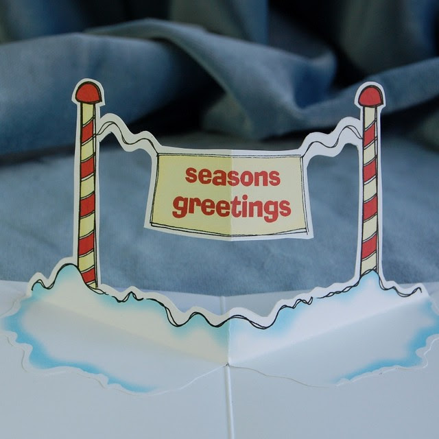 seasons greeting - pop up christmas card