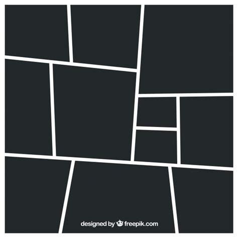 Schwarze fotorahmen collage vorlage   Download der
