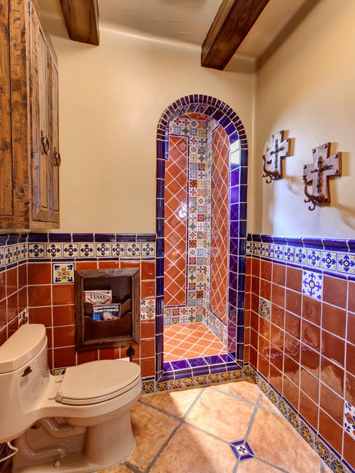 Mexican Tile Bathroom Home Design Ideas, Pictures, Remodel ...