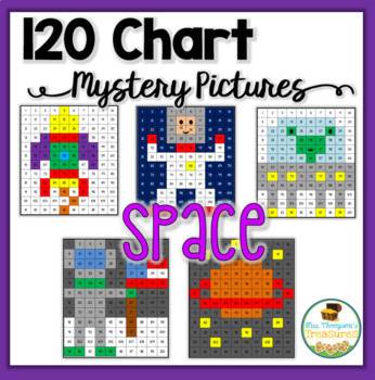 120 Chart Mystery Pictures - Space Explorers Pack
