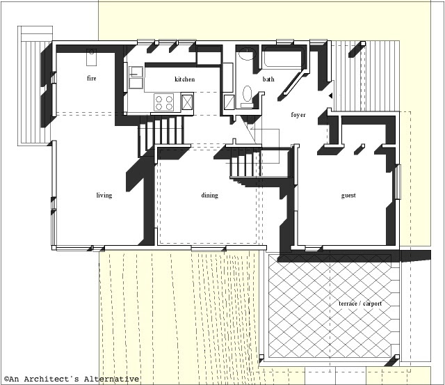 Hillside Plan With Garage Under 69131am: Modern House Plans By Gregory La Vardera Architect: A Very