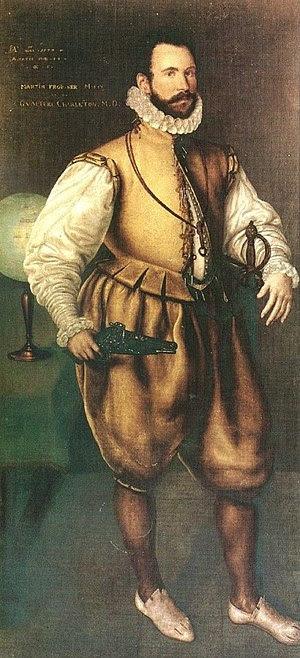 English: Sir Martin Frobisher by Cornelis Kete...