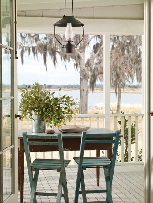 dustjacketattic:  photo by deborah whitlaw llewellyn  #porch, #view, #weekend, #home