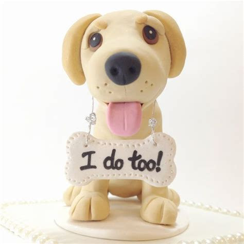Custom Yellow Labrador Custom Wedding Cake Topper, Yellow