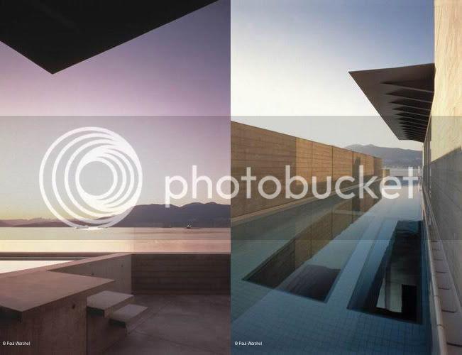 Shaw House, view & lap pool
