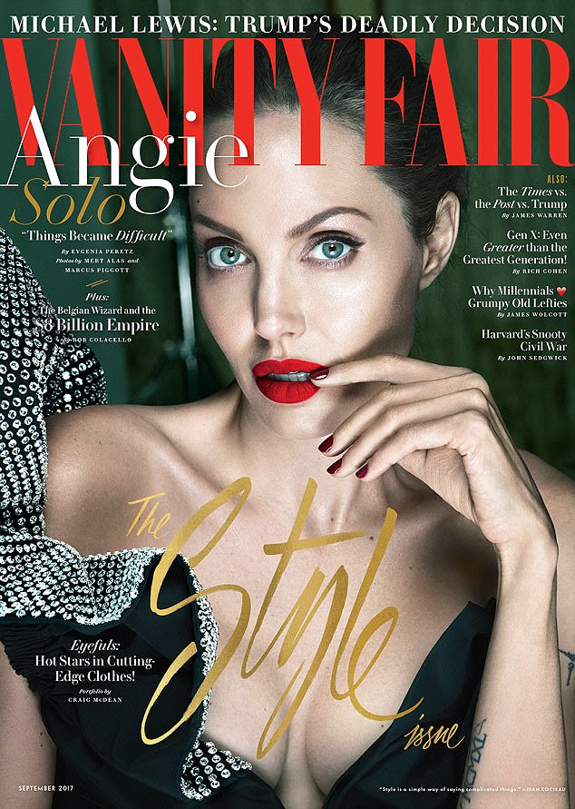 Wow: Angelina Jolie has addressed the split from Brad Pitt in a in-depth interview for the September issue of Vanity Fair
