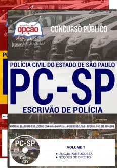 Concurso PC SP 2018-ESCRIVÃO DE POLÍCIA