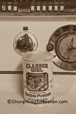 Clabber Girl Baking Powder on Antique Stove, Dane County, Wisconsin