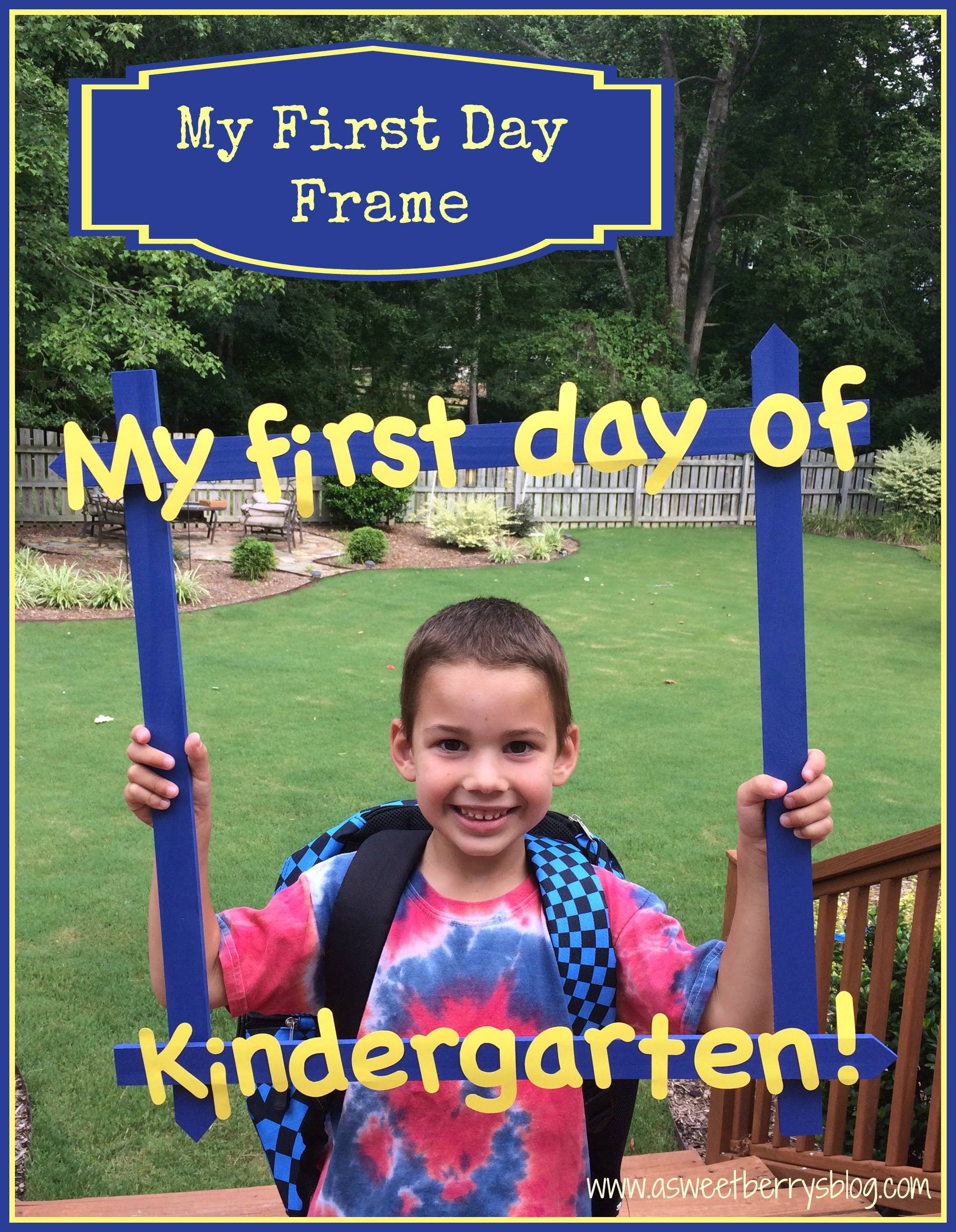 Back To School Picture Frame A Sweet Berrys Blog