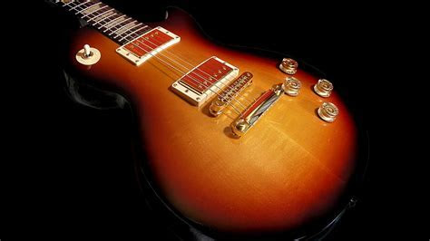 Guitar Wallpaper   Fireburst Vintage Gibson Les Paul