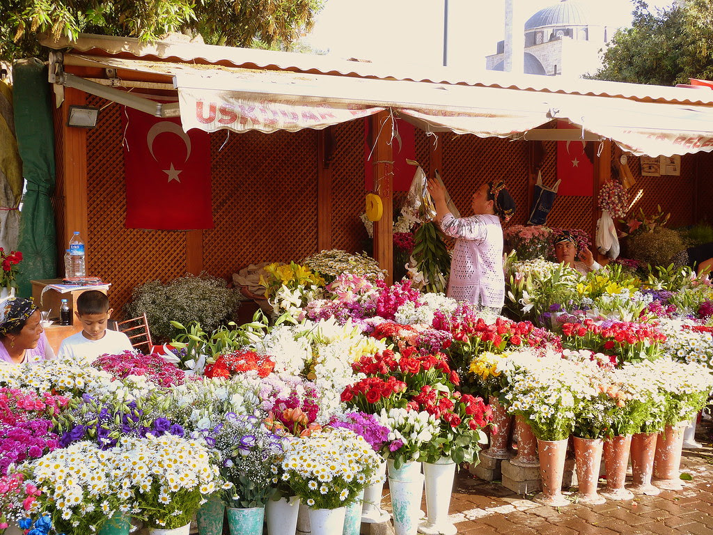 flower vendor in Uskudar