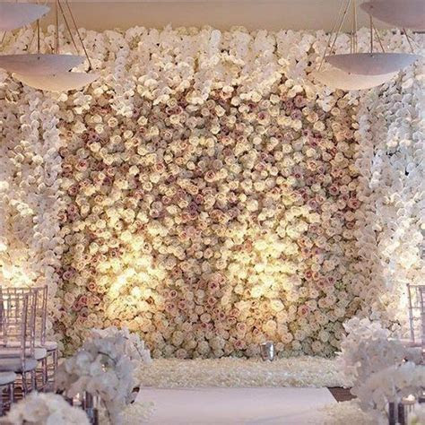 10 Brilliant Flower Wall Wedding Backdrops for 2018   Oh