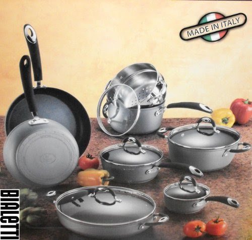 Cookware Set Reviews Bialetti 13 Piece Aluminum Nonstick
