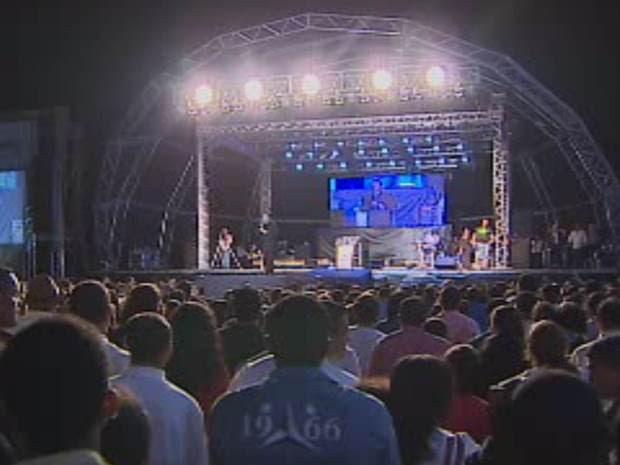 Marco Feliciano - Glorifica Litoral - São Sebastião, SP (Foto: Reprodução/ TV Vanguarda)