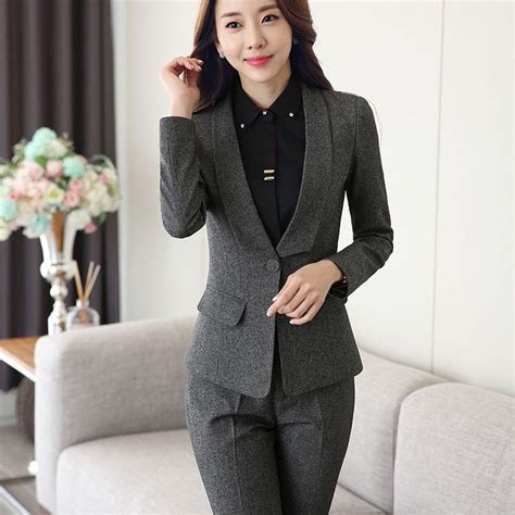 Shawl Collar Two Piece Ladies Formal Pant Suit For Wedding