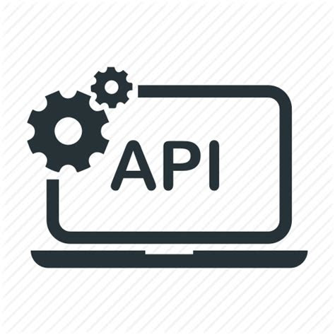 api computer  programming service set icon