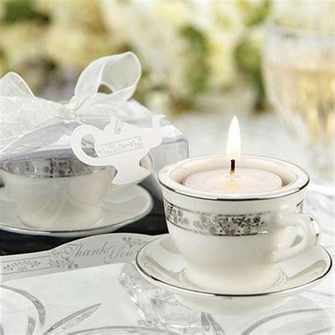 Personalized Porcelain Teacup Tea Light Favors