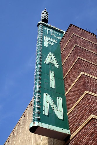 close fain sign from left in sun