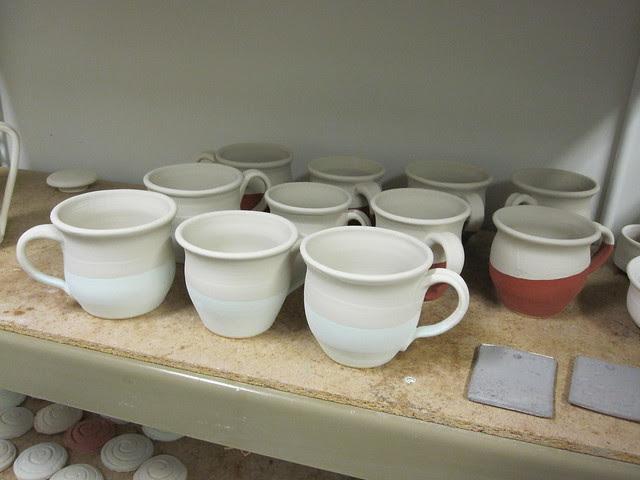 Tea Mugs before final firing