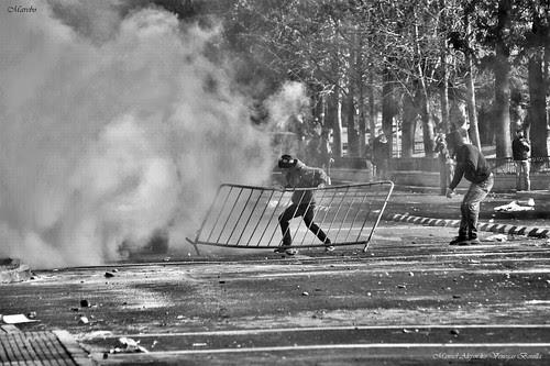 Santiago de Chile, protesta by Alejandro Bonilla