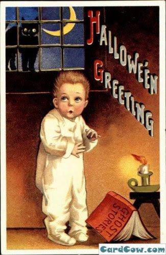 Старинные открытки к Хеллоуину. (Retro Halloween Postcards)