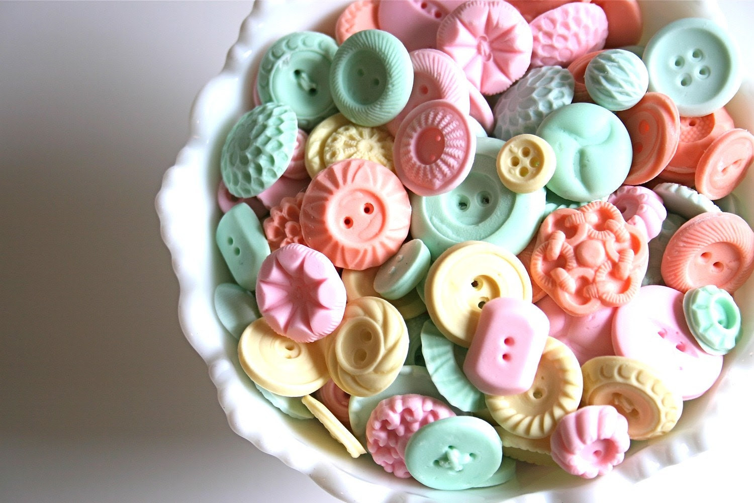 Peppermint Candy Buttons 200 Featured in Vermont Vows