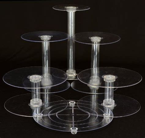 6 Tier Clear Wedding Cascade Cupcake Cake Stand