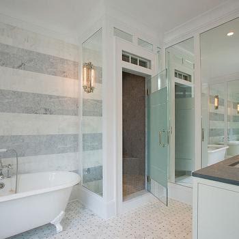 Striped Marble - Contemporary - bathroom