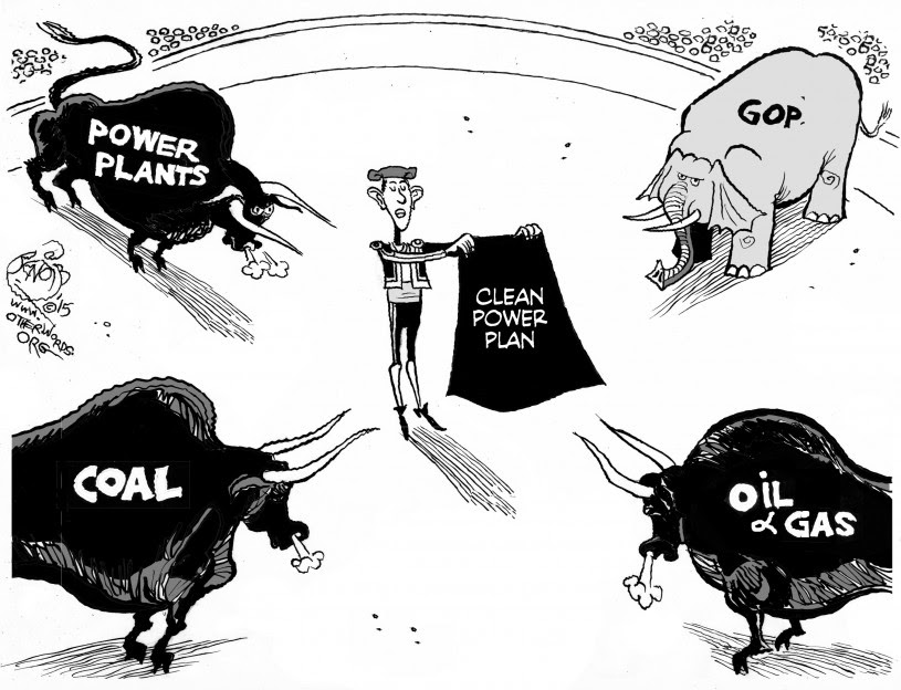 Clean Power Plan cartoon