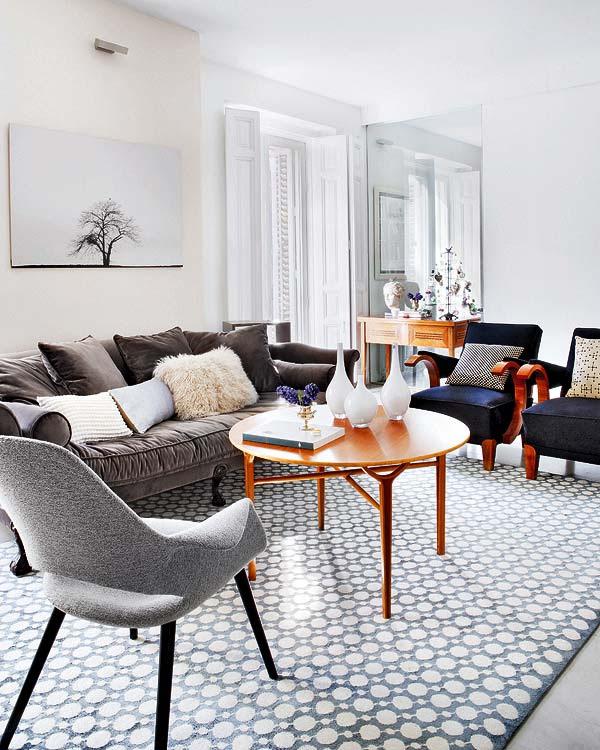 Gray & White Living Room
