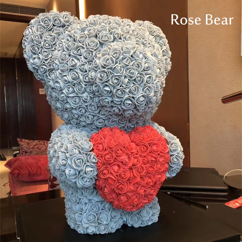 2018 Valentines Day Gift 60cm Rose Bear Wedding Party Decoration
