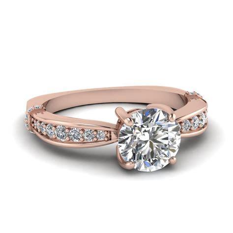 Round Cut Graduated Accents Round Diamond Vintage Wedding