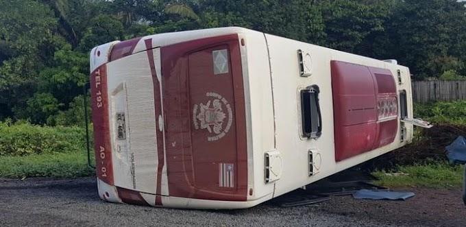 ACIDENTE - Ônibus do Corpo de Bombeiros capota e 6 ficam feridos na BR-316