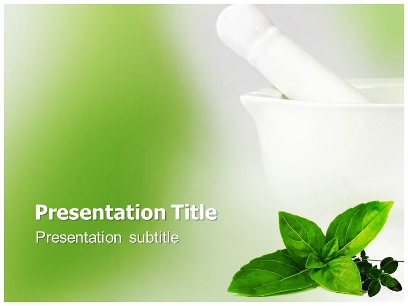 Herbs Powerpoint Templates Herbal Powerpoint Background Fasrmusical