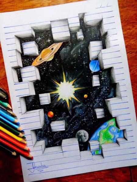 Απίστευτη 3D τέχνη σε χαρτί από έναν 17χρονο (3)